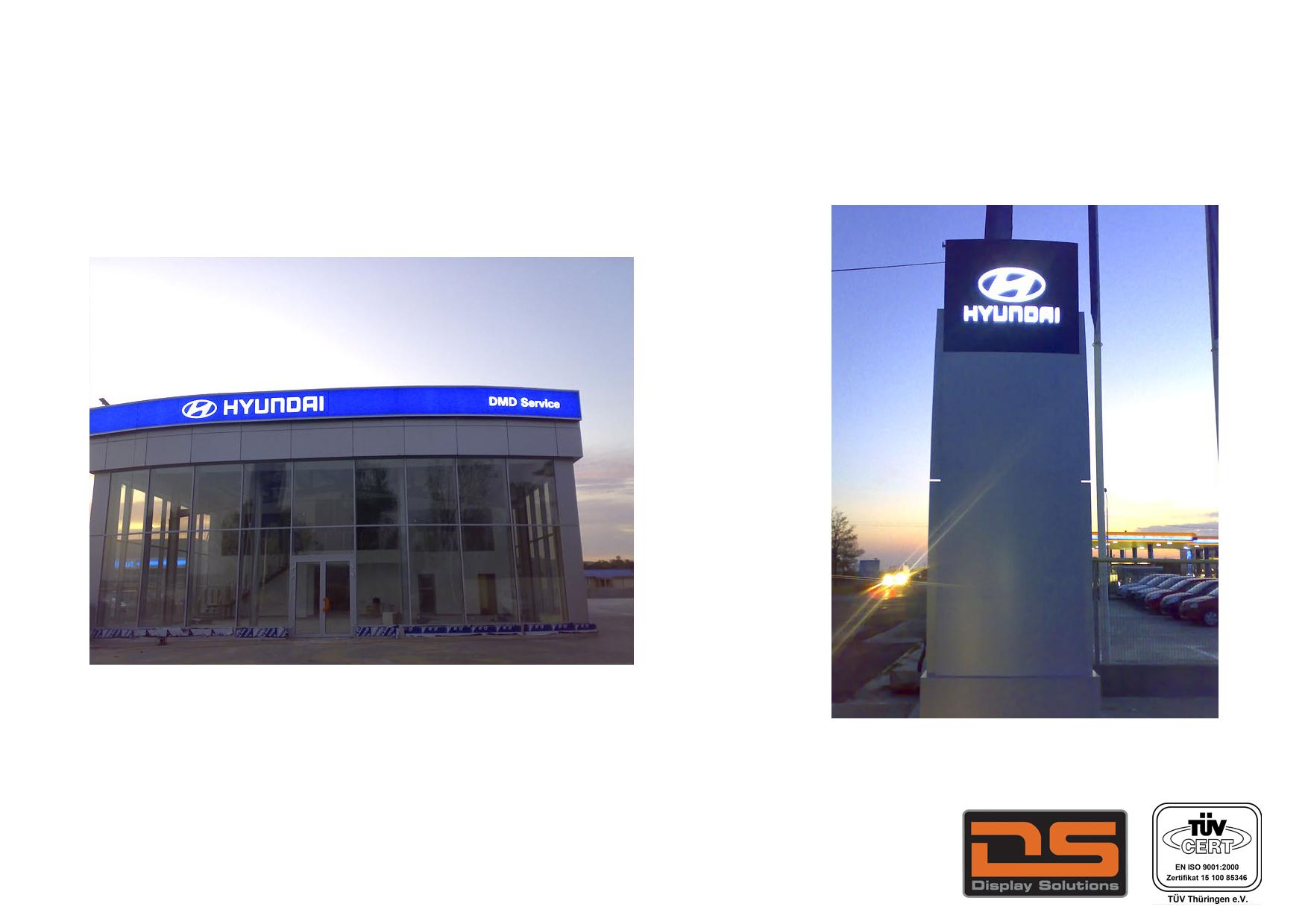Caseta Luminoasa Si Totem Hyundai Display Solutions
